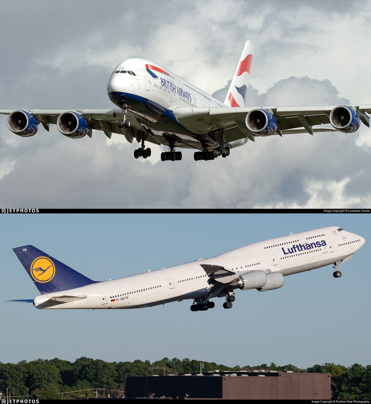 A380 and 747