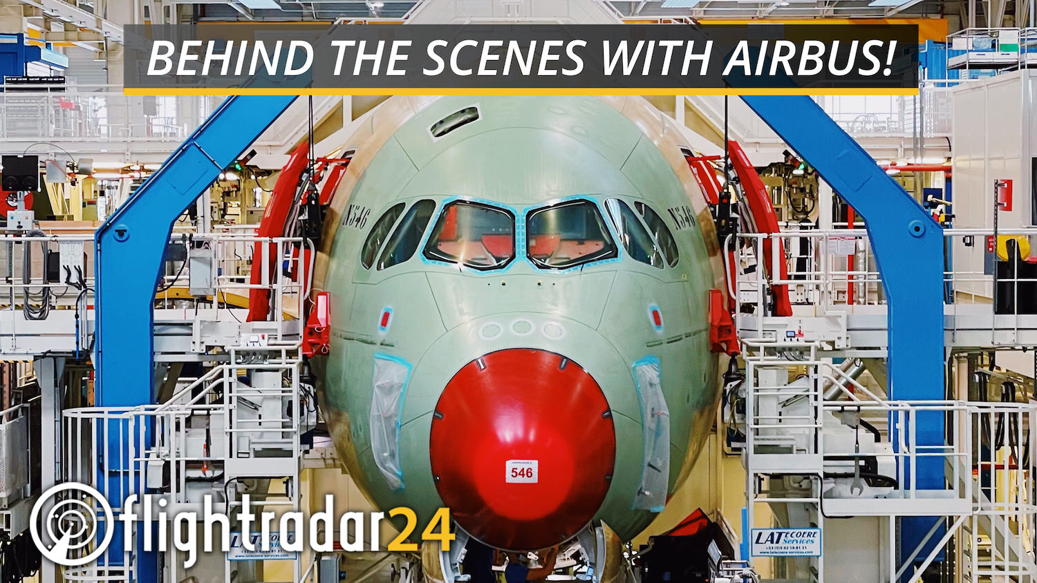 Title card: Behind the scenes with Airbus!