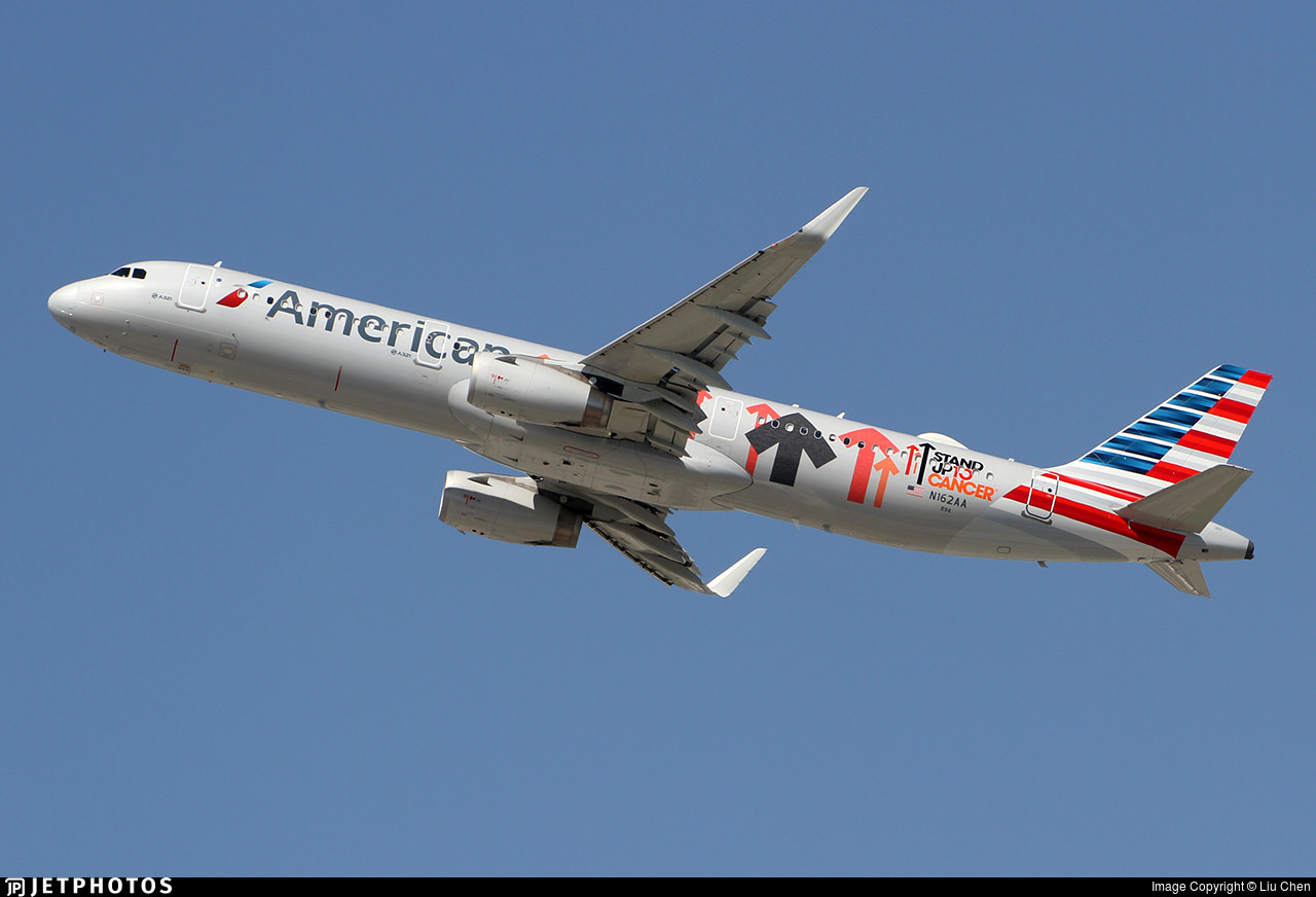 American Airline's Stand Up to Cancer A321