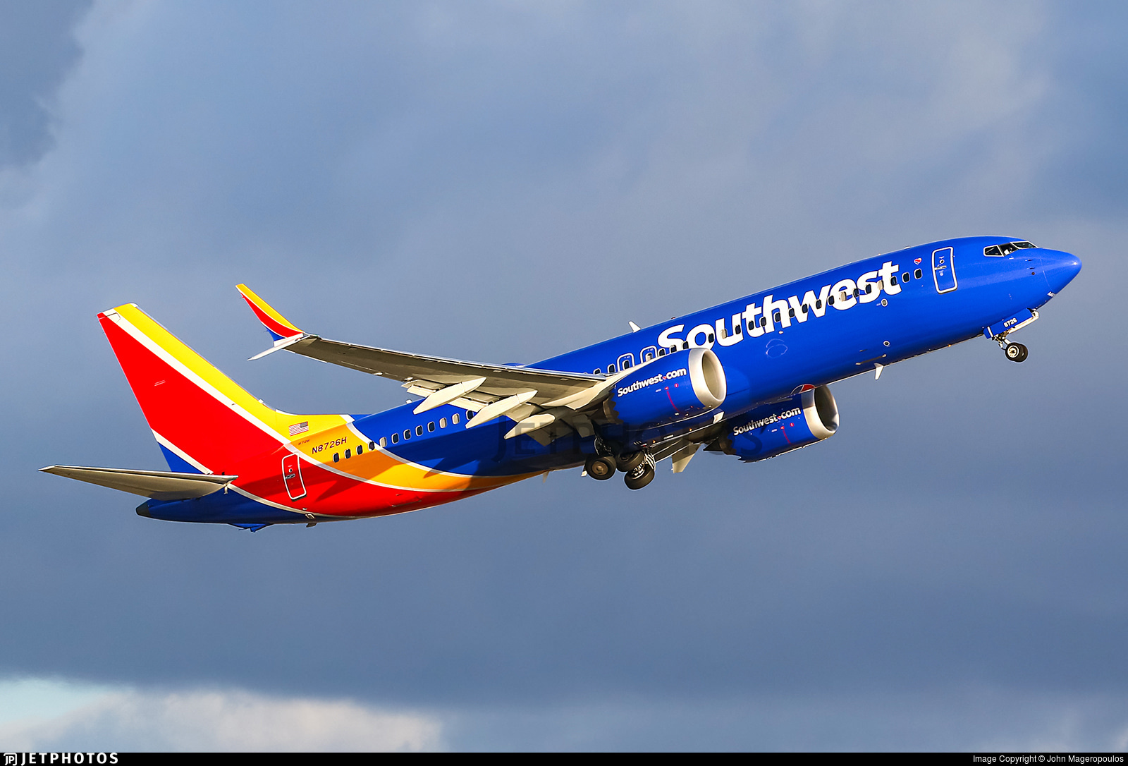 A Southwest Airlines 737-8 MAX departing Fort Lauderdale in January 2019.