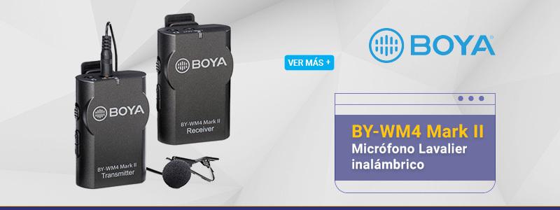 Boya BY-WM4 Mark II Micrófono Lavalier inalámbrico