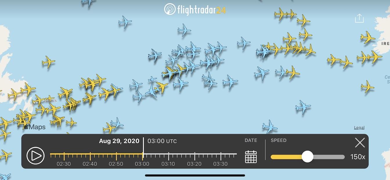 Playback in the Flightradar24 app