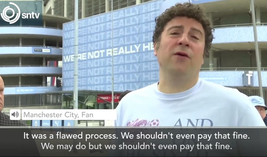 sntv speaks to Manchester City fans