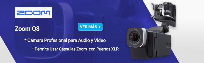 Zoom Q8 Cámara Profesional Para Audio y Video Permite Usar Cápsulas Zoom con Puertos XLR