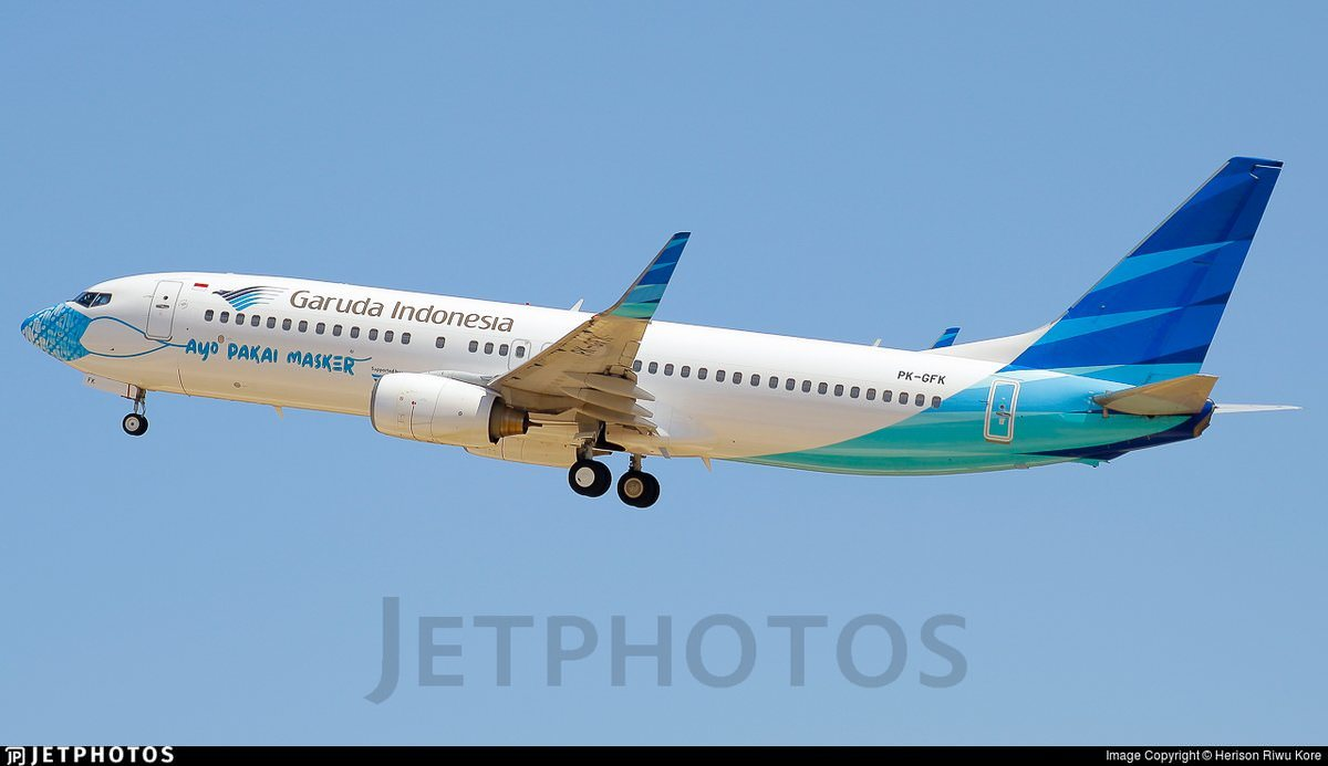 Garuda's second Let's Wear a Mask 737
