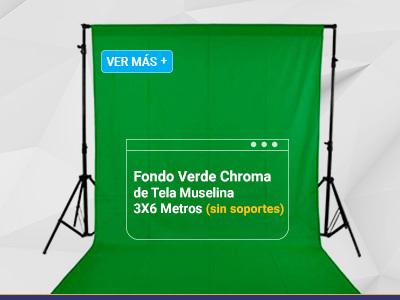 Weifeng Fondo Verde Chroma de Tela Muselina 3X6 Metros