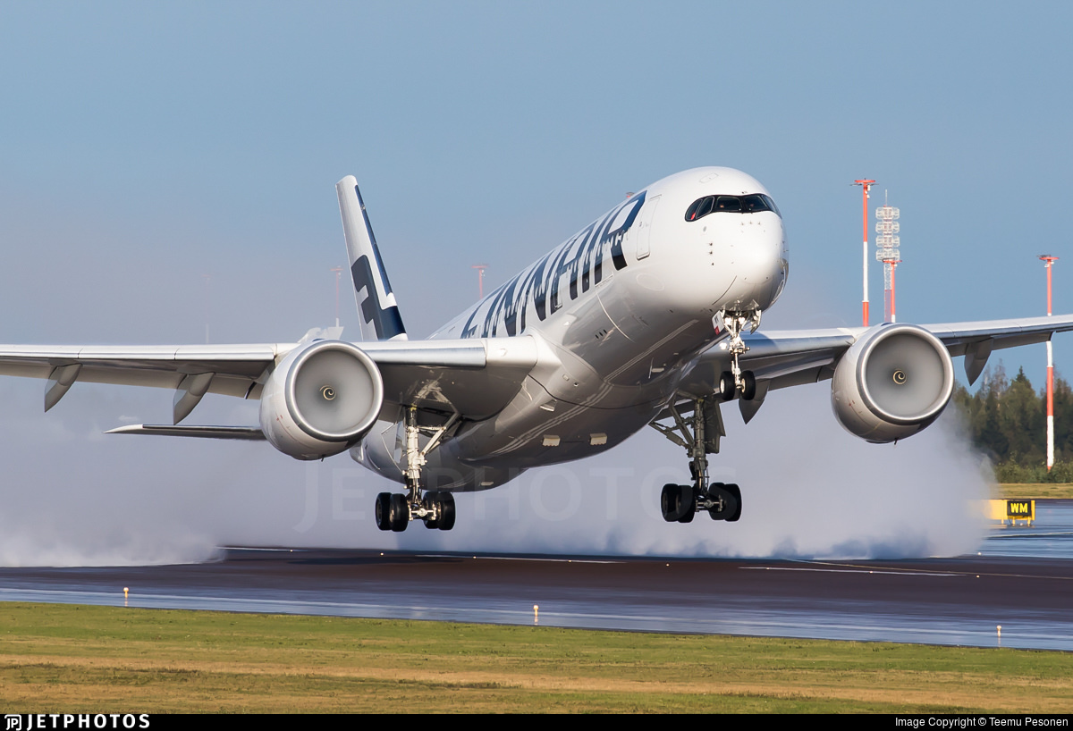 Finnair A350 departing Helsinki