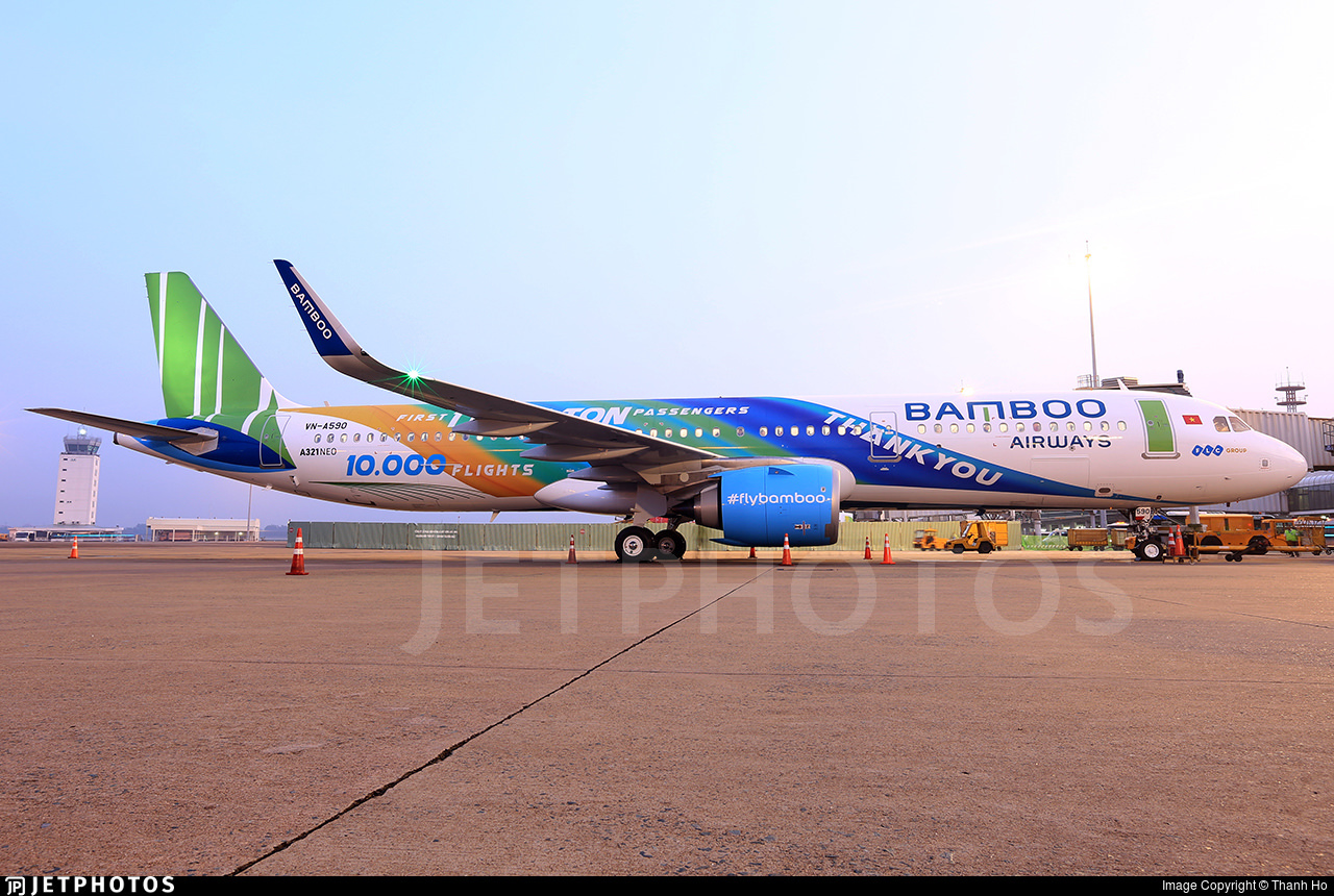 Bamboo Airways thank you livery A321neo