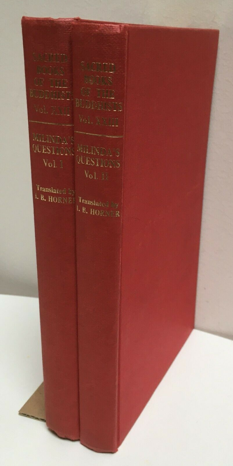 Milinda 2 Volumes