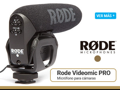 Rode Videomic PRO Micrófono Para Cámara de Video Reflex o Mirrorless