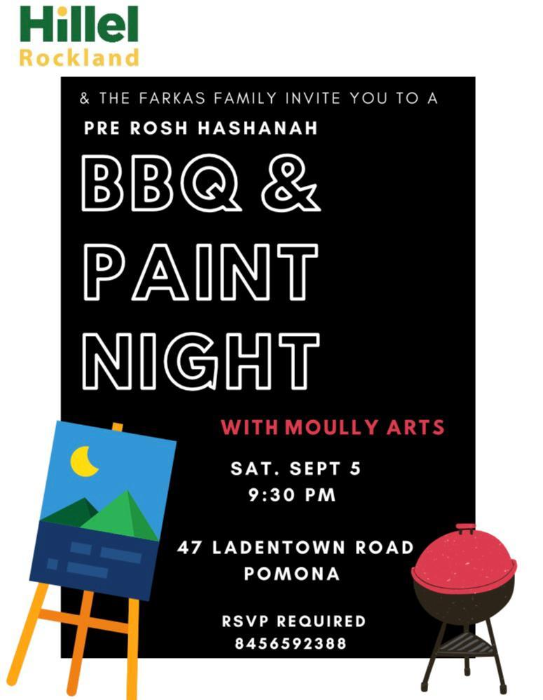 bbq and paint night flyer