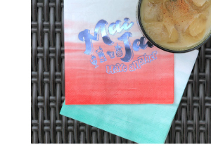 Personalized Ombre Napkins