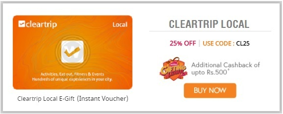 Cleartrip Local E-Gift cards