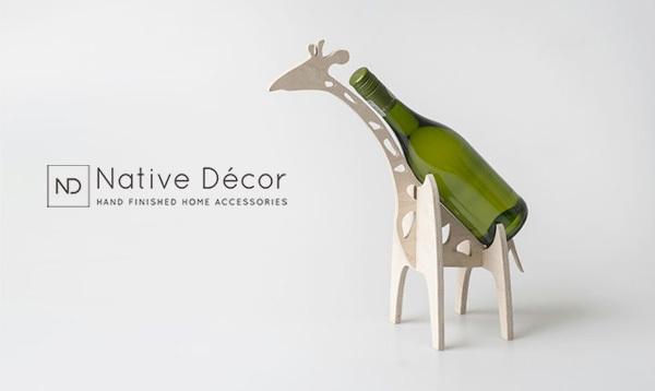 Jerry the Giraffe Wine Holder