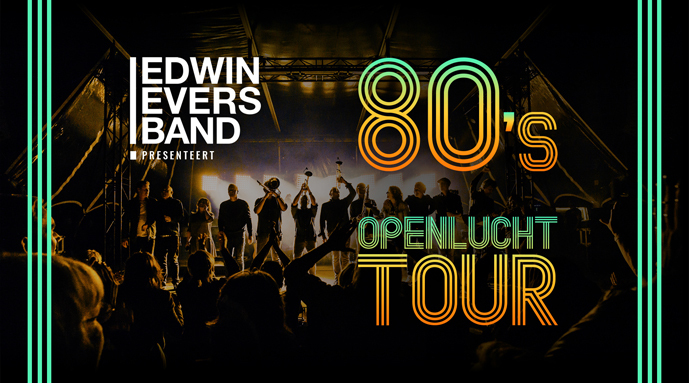 De Edwin Evers Band in de openlucht
