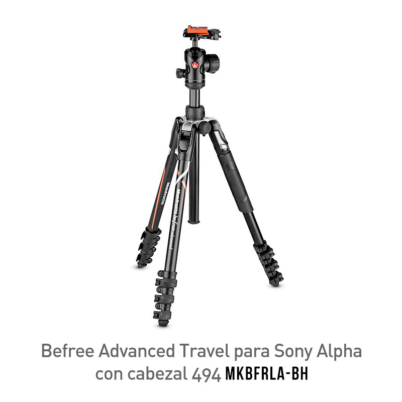 Manfrotto Befree Advanced Travel para Sony Alpha MKBFRLA-BH Trípode Con Cabezal 494