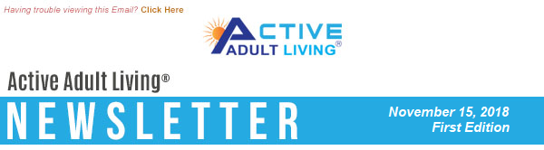 Active Adult Living Newsletter - November 2018 First Edition