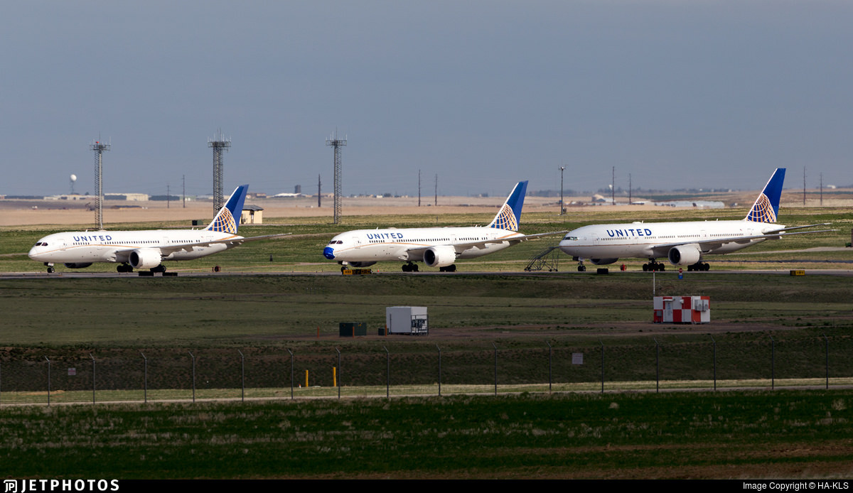 United aircraft stored in Denver