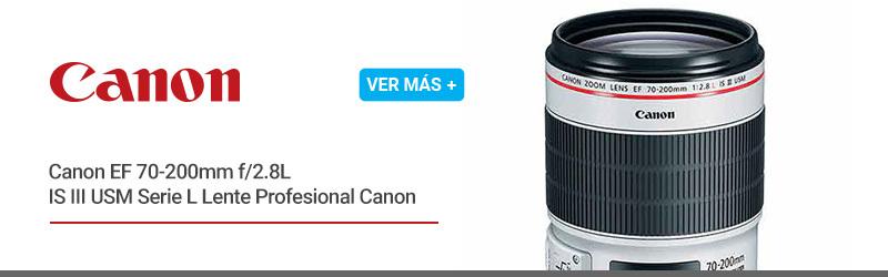 Canon EF 70-200mm f/2.8L IS III USM Serie L Lente Profesional Canon