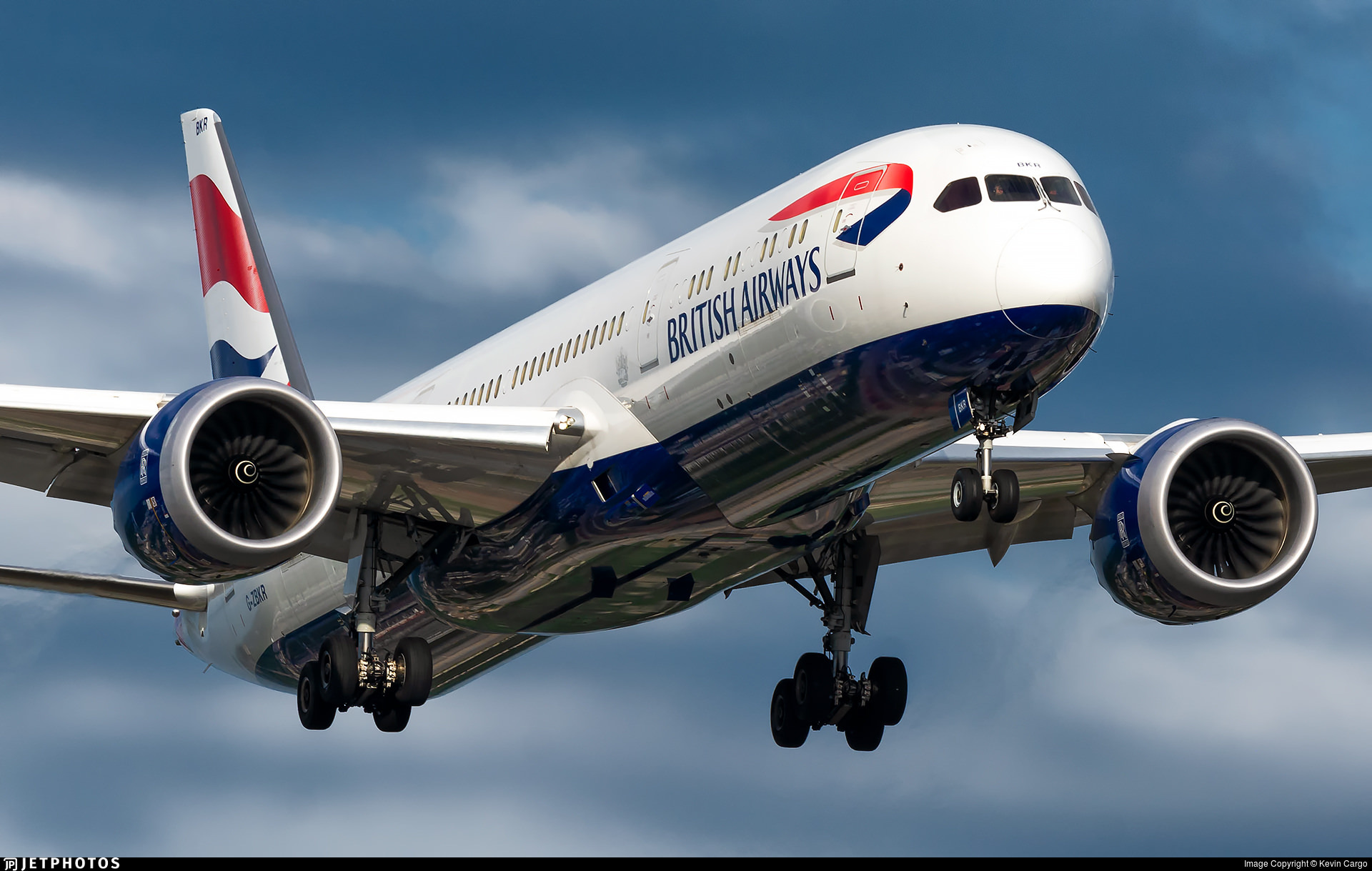 British Airways 787 landing in Chicago