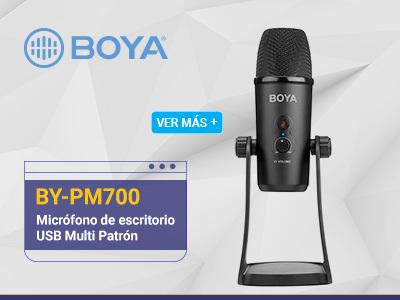 Boya BY-PM700 Microfono de escritorio USB Multi Patrón para periodistas, youtubers y radio
