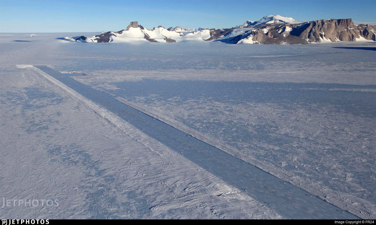 Troll Airfield in Antarctica