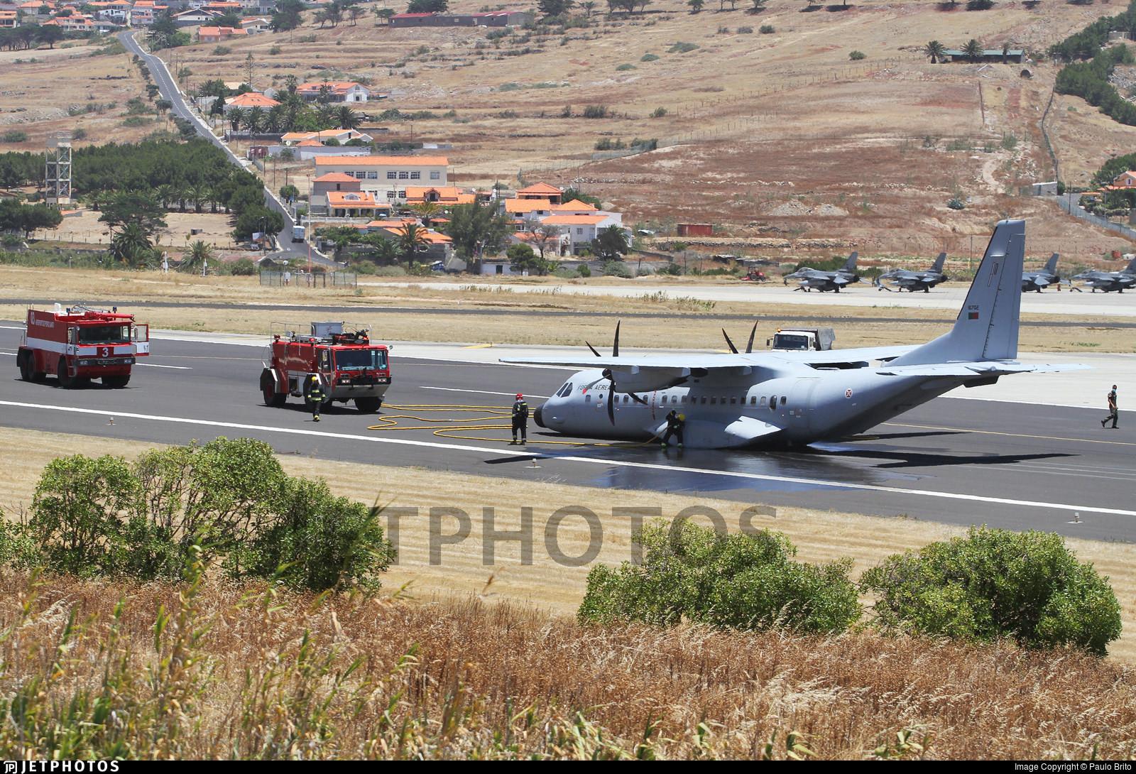 CASA C-295M after gear-up landing in Porto Santo