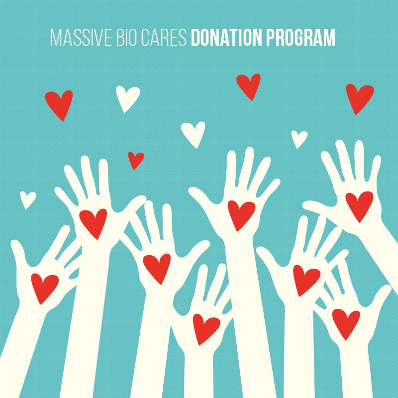 Massive Bio Cares Donation Program