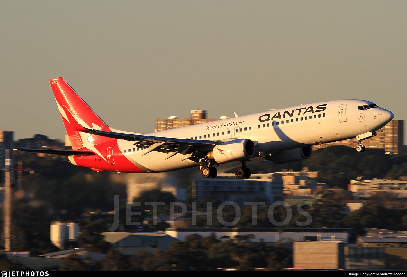 Qantas 737 performing go around