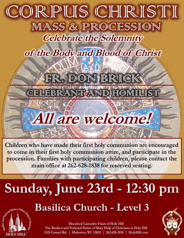 Corpus Christi Mass & Procession