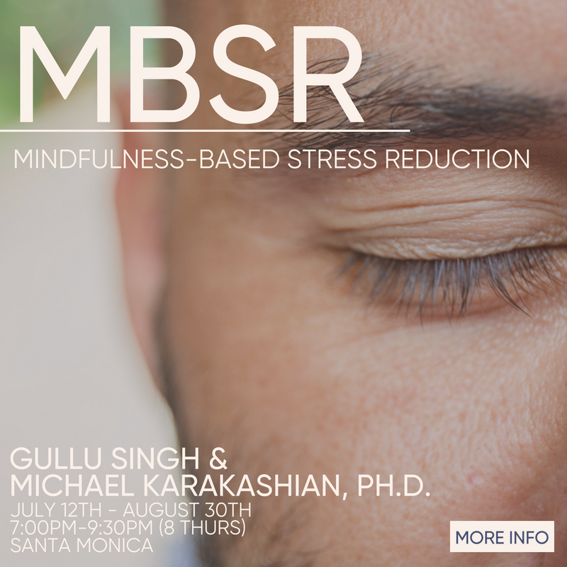 Mindfulness Based Stress Reduction beginning July 12th
