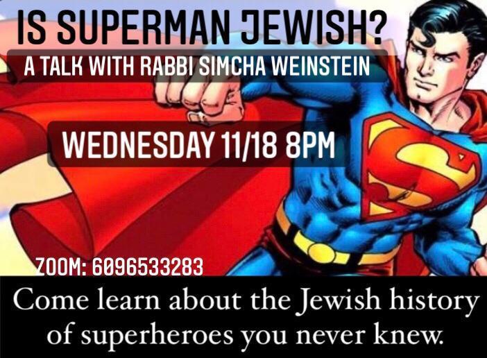Is Superan Jewish event flyer