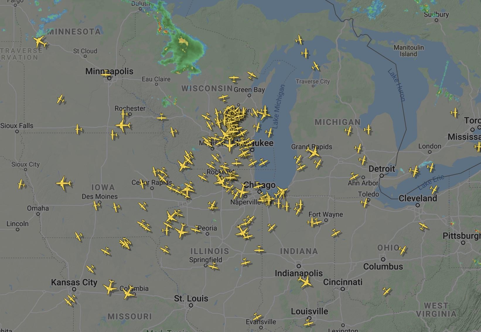 Aircraft departing Oshkosh