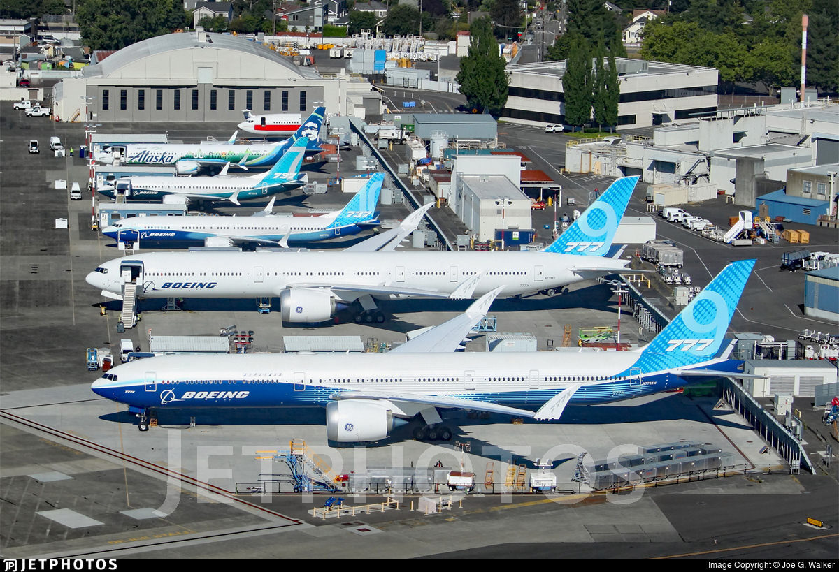 Boeing's line up in Seattle.