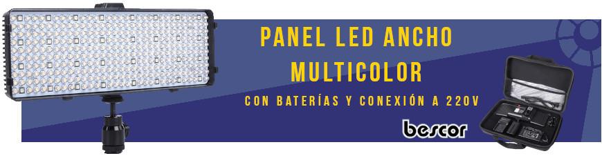 Bescor - Panel Led Ancho Multicolor Chameleon RGB Luz Blanca, cálida o de colores