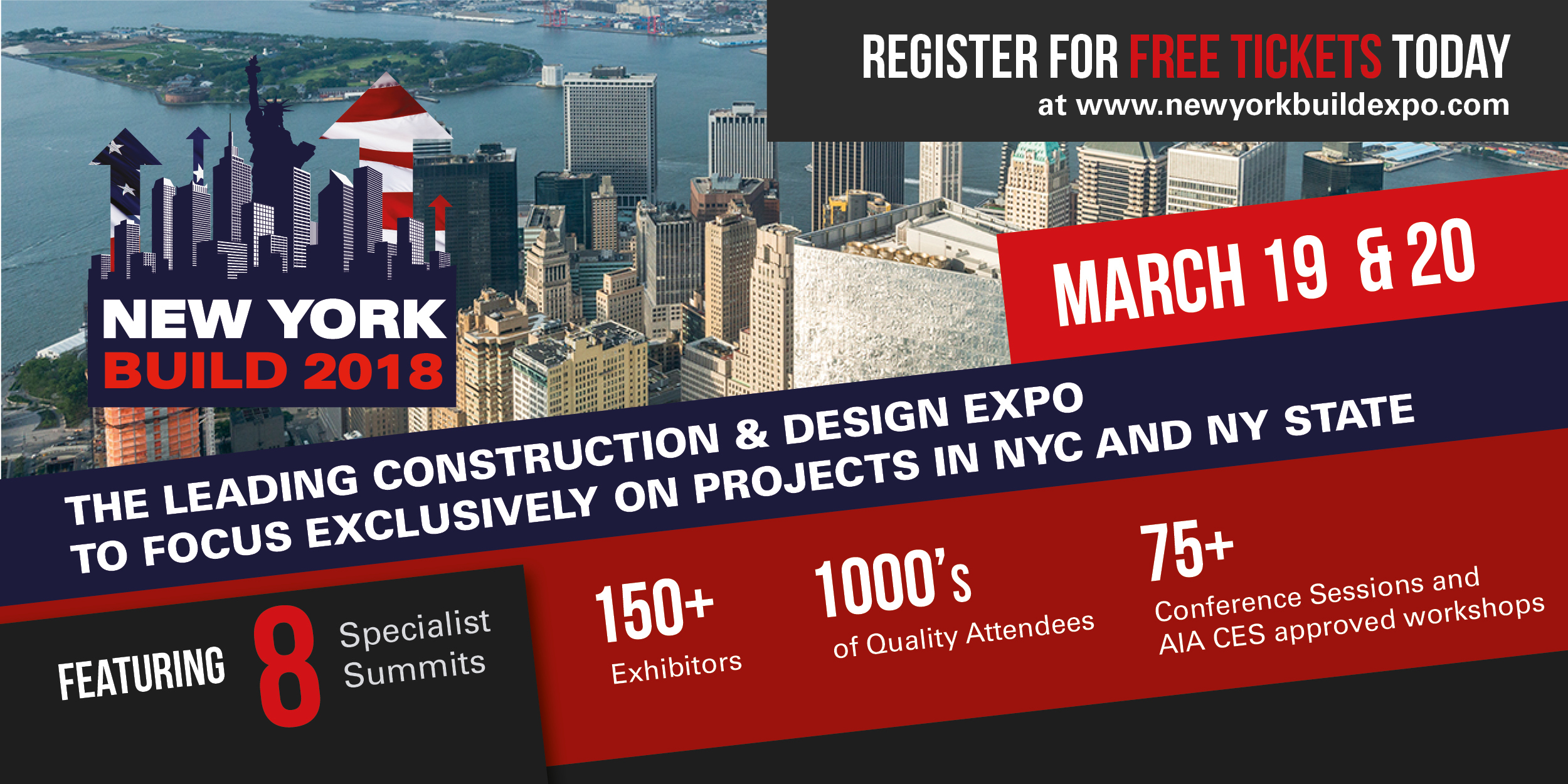 New York Build expo is taking place at the Javits Center on March 19 & 20.
