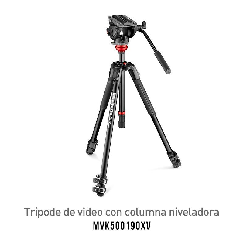Trípode Manfrotto MVK500190XV para Video con Balane de Cabezal