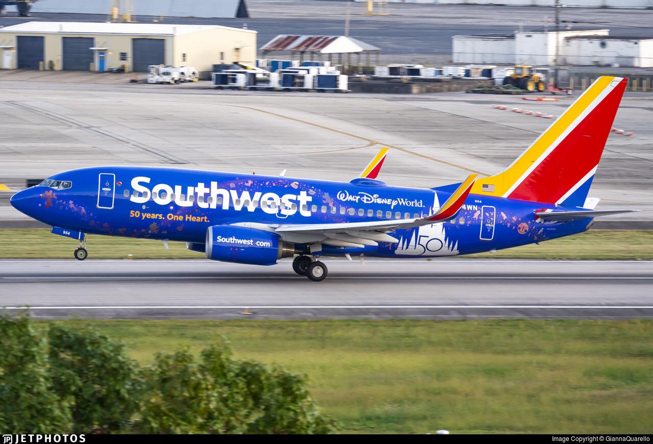 Southwest's new Disney World at 50 livery 737