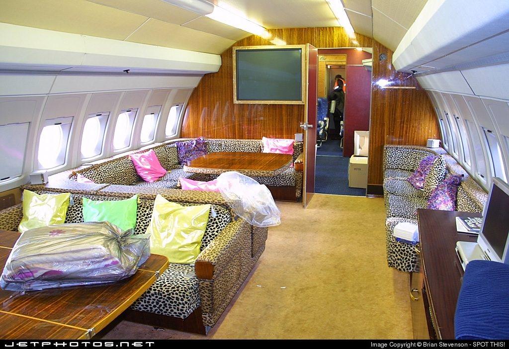 "VIP configured ""shagadelic"" cabin on an IL-62 in Geneva, 2005"