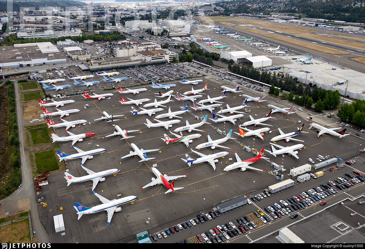 Stored 737 MAX in Seattle