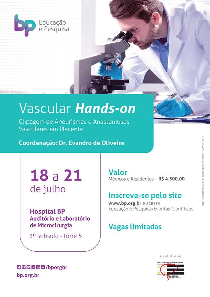 Vascular Hands-on | Clipagem de Aneurismas e Anastomoses Vasculares em Placenta @ Hospital BP  - Auditorio de Laboratório de Microcirurgia | 3ª subsolo torre 5