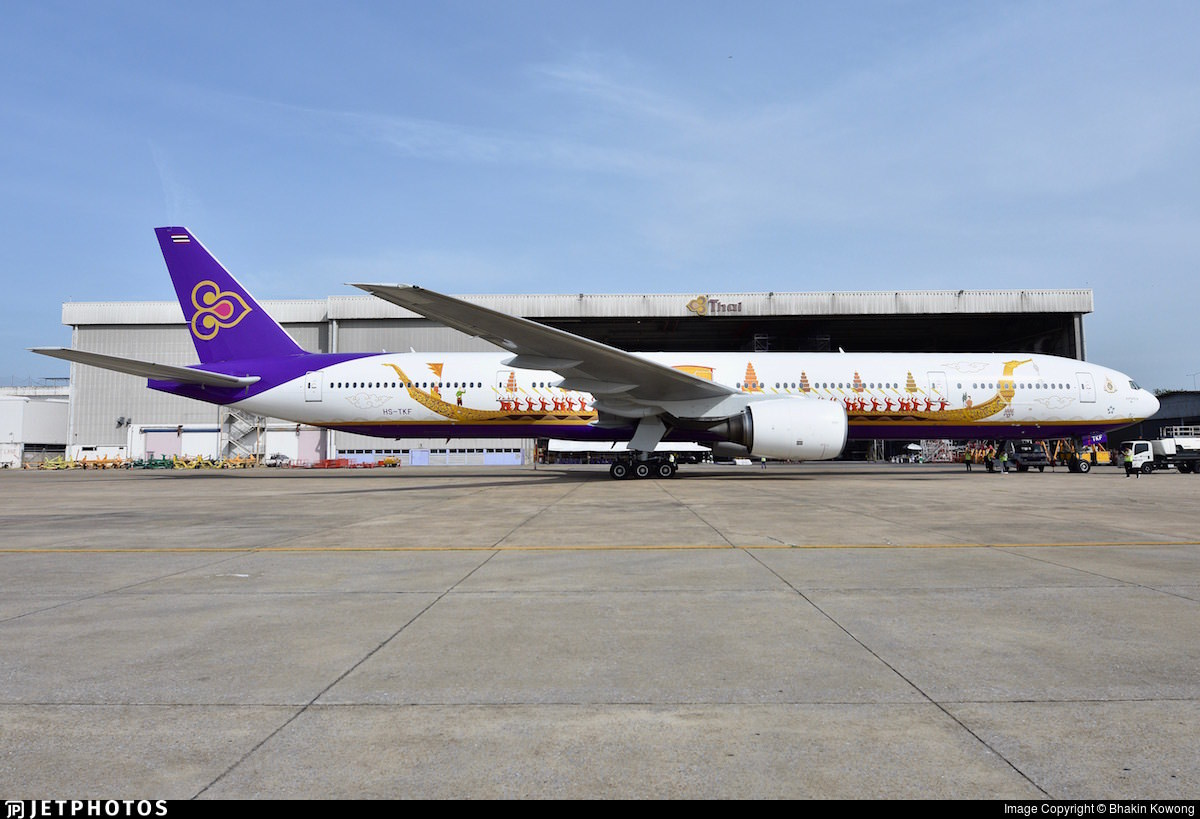 Thai Airways new Royal Barge livery 777