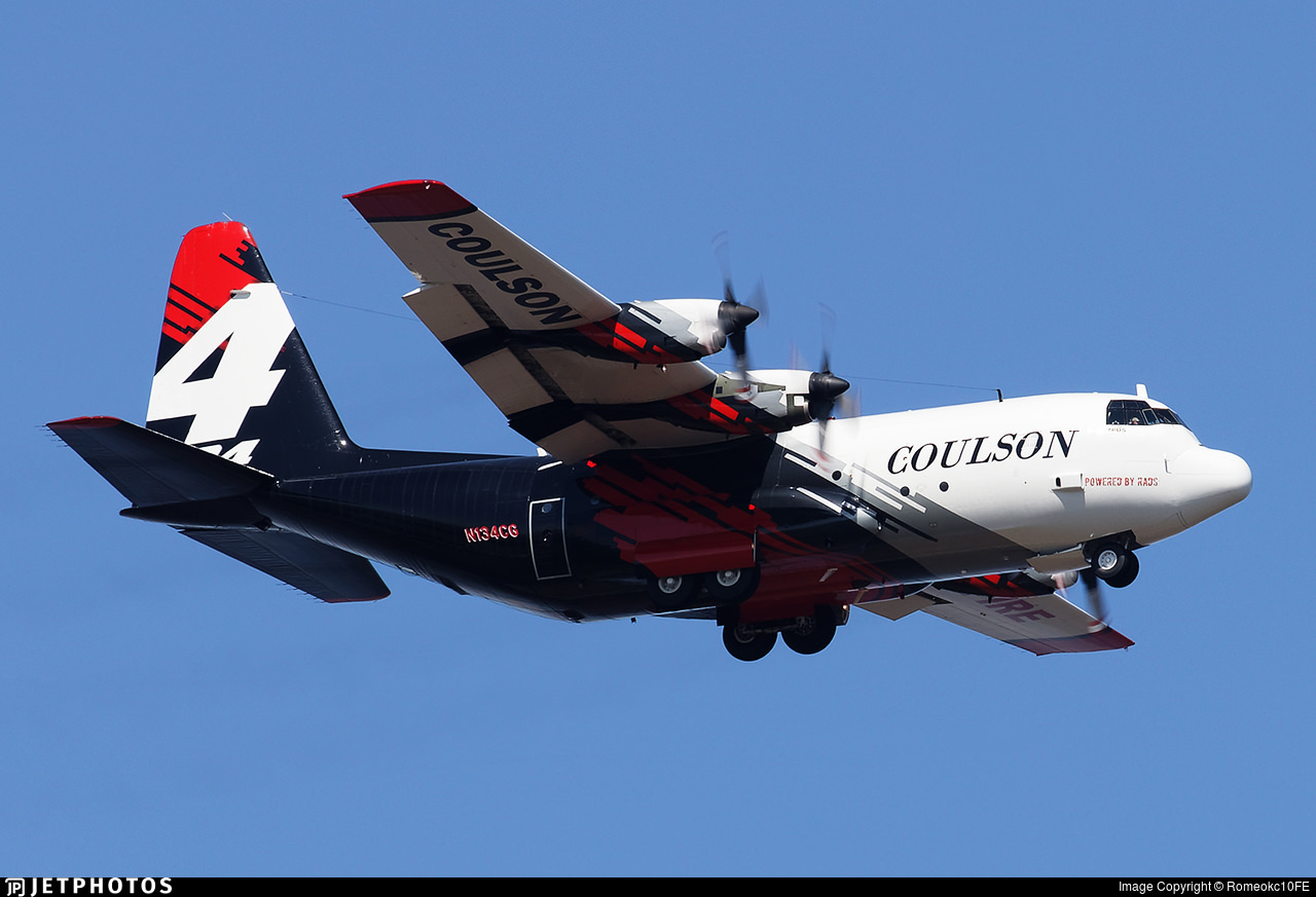 Coulson C-130 fire fighting aircraft