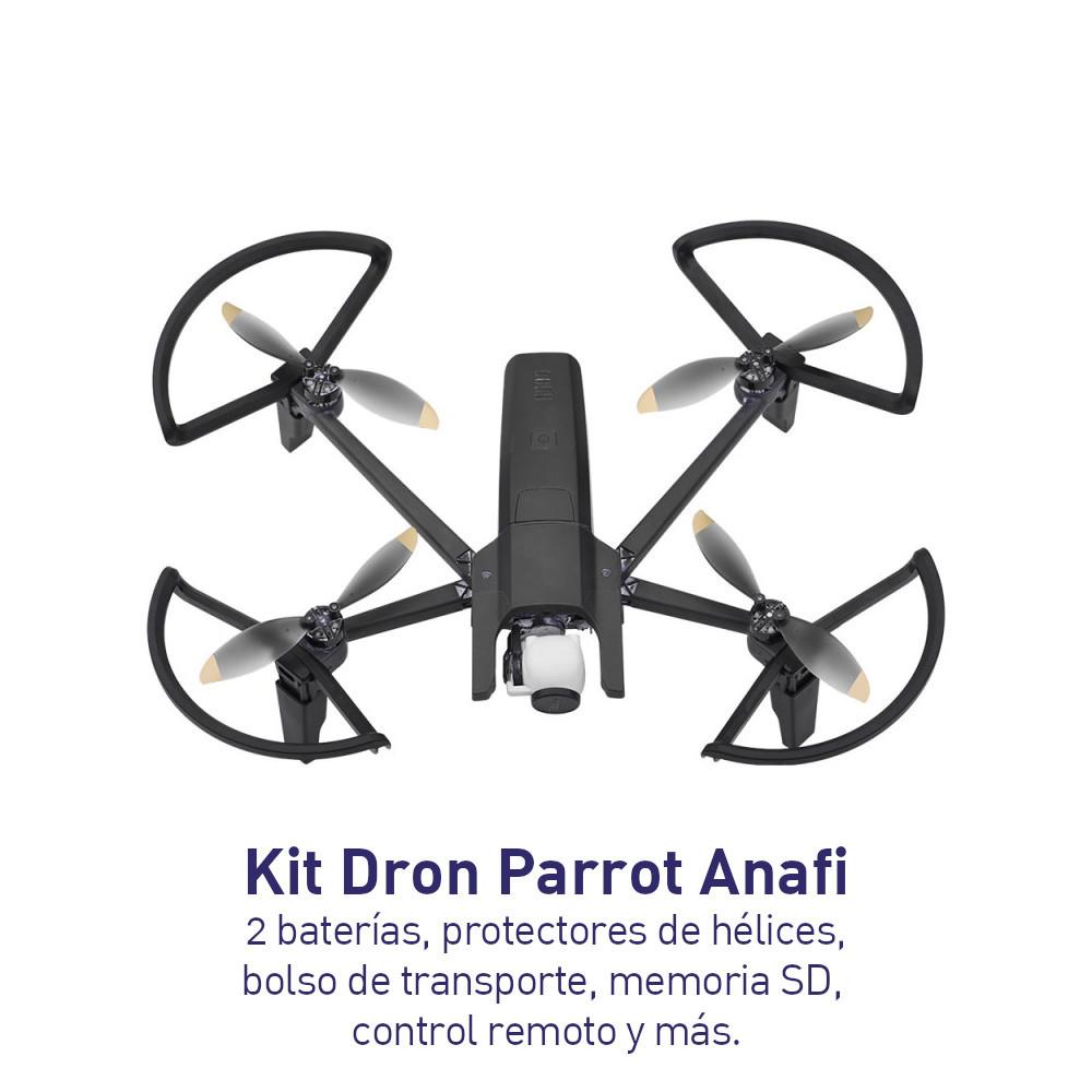 KIT - Dron Parrot Anafi + Batería Adicional + Protectores de hélice + Bolso