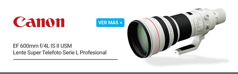 Canon EF 600mm f/4L IS II USM Lente Super Telefoto Serie L Profesional