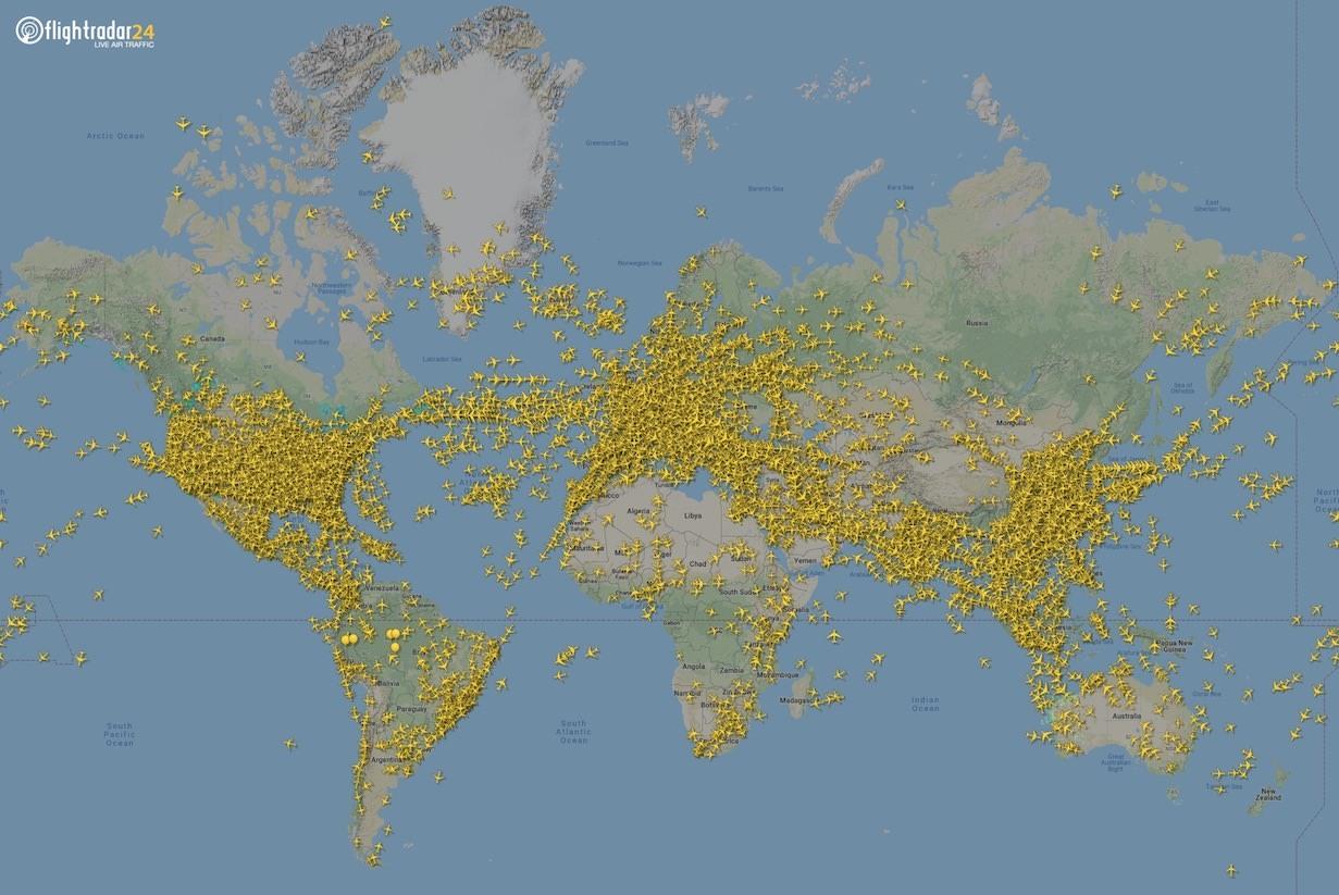 Flights on Flightradar24