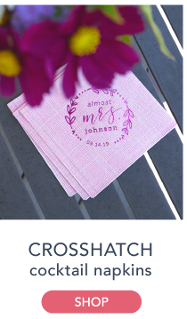 Personalized Crosshatched Cocktail Napkins