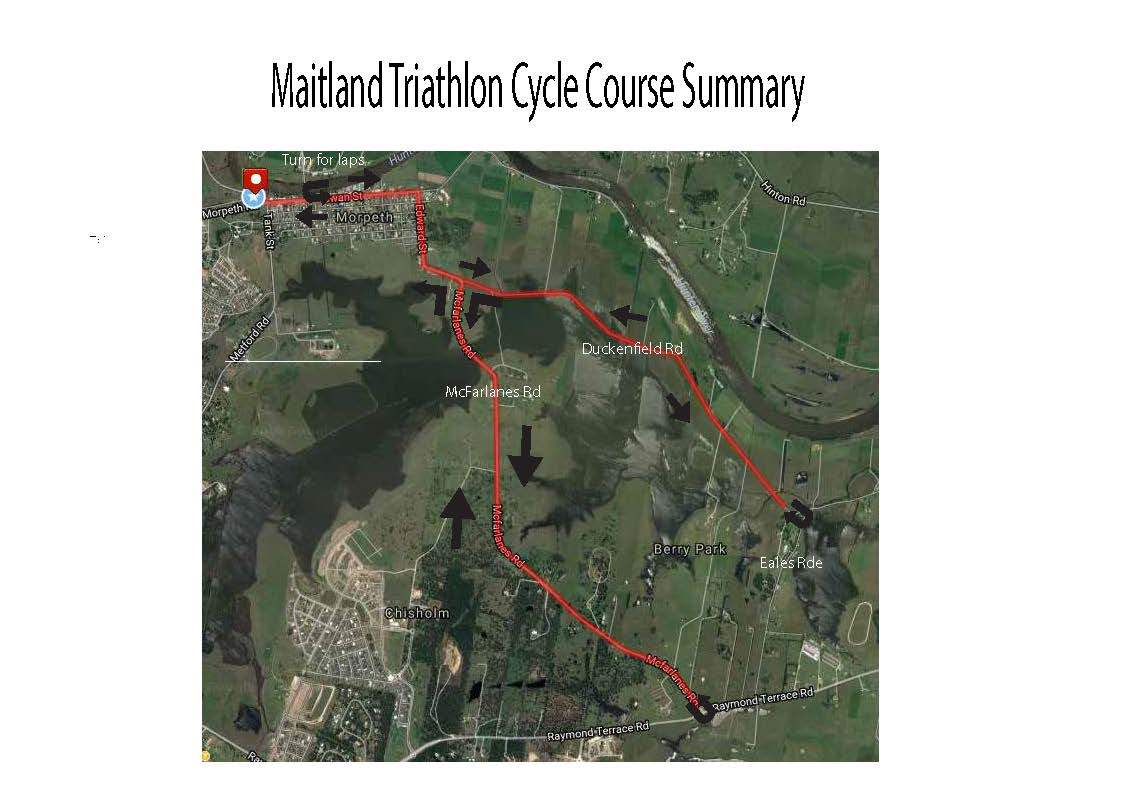 cycle leg Maitland tri