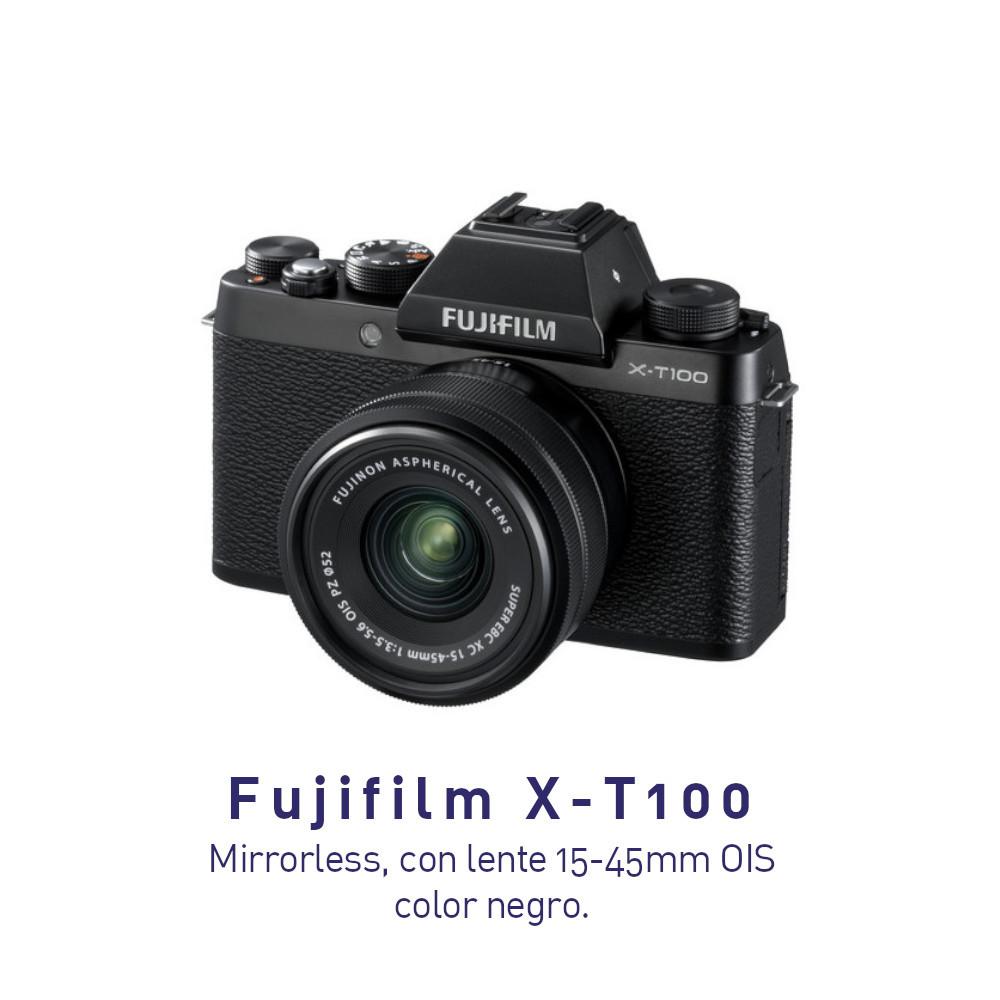 Fujifilm X-T100 Cámara Mirrorless Sin espejo con lente15-45 OIS color NEGRO