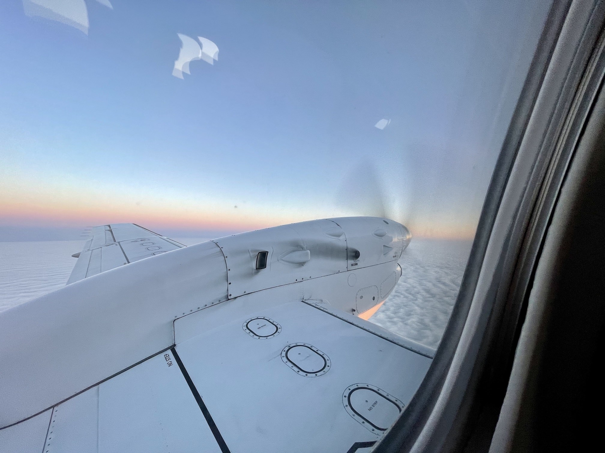 Out the window of a Saab 340B